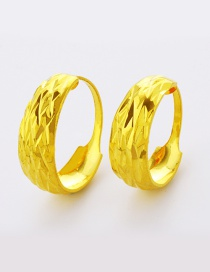 Elegant Gold Color Pure Color Decorated Simple Round Shape Ring