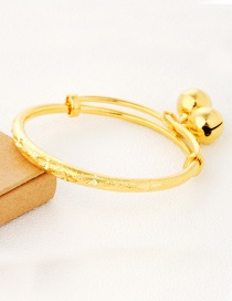 Lovely Gold Color Small Bell Pendant Decorated Simple Pure Color Baby Bracelet