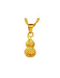 Fashion Gold Color Calabash Shape Decorated Pure Color Pendant (not Including Chain )