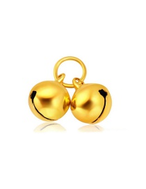 Fashion Gold Color Small Bell Decorated Simple Pure Color Pendant