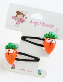 Lovely Orange Cartton Carrot Decorated Simple Hairpin(2pcs)