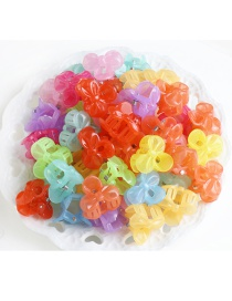 Lovely Multi-color Color Matching Decorated Flower Shape Hair Claw(50pcs Randomly)