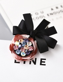 Fashion Pink Flower&bowknot Decorated Hairpin