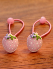 Lovely Pink Strawberry Decorated Pure Color Hair Band (2pcs)