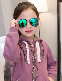Fashion Multi-color Color Matching Decorated Anti-ultraviolet Children Sunglasses
