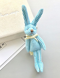 Sweet Light Blue Rabbit Shape Decorated Pure Color Hairpin(1pc)
