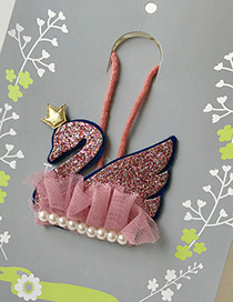 Fashion Pink Swan Decorated Simple Children Choker