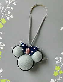 Fashion Blue Mickey Pendant Decorated Simple Children Choker