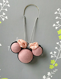 Fashion Pink Mickey Pendant Decorated Simple Children Choker