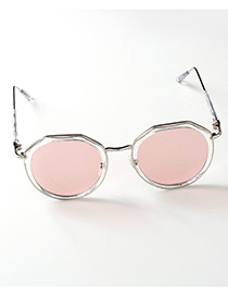 Lovely Pink Pure Color Decorated Anti-ultraviolet Children Sunglasses