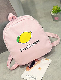 Fashion Pink Cartoon Pattern Decorated Mini Backpack