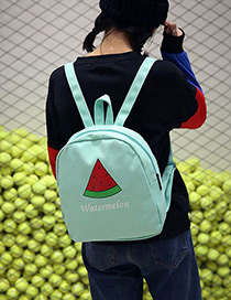 Fashion Green Watermelon Pattern Decorated Simple Backpack