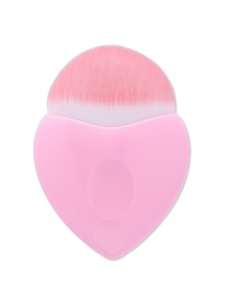 Fashion Pink Pure Color Decorated Mermaid Makeup Brush(1pc)