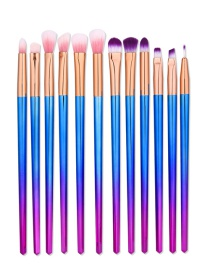 Fashion Multi-color Color Matching Decorated Mermaid Makeup Brush(12pcs)