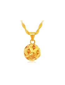 Fashion Gold Color Round Ball Decorated Hollow Out Pendant (6pcs Without Chain)