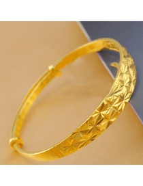 Fashion Gold Color Full Stars Pattern Decorated Pure Color Bracelet