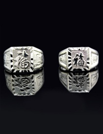 Fashion Multi-color Chinese Pattern Decorated Pure Color Ring