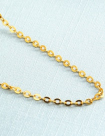 Fashion Gold Color Pure Color Decorated Simple Clavicle Necklace