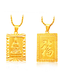 Fashion Gold Color Goddess Of Mercy Decorated Pure Color Pendant ( Without Chain)