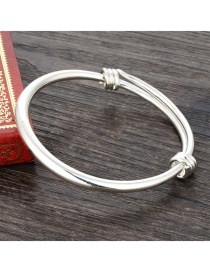 Fashion Gold Color Pure Color Decorated Simpe Smooth Bracelet
