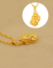 Fashion Gold Color Brave Decorated Pure Color Simpe Pendant ( Without Chain)