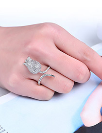 Fashion Silver Color Bud Shape Decorated Pure Color Ring