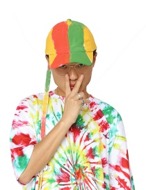 Fashion Multi-color Graffiti Pattern Decorated Color Matching Baseball Cap