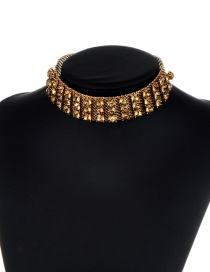 Fashion Champagne Pure Color Decorated Hollow Out Choker