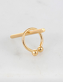 Fashion Gold Color Strip Decorated Pure Color Ear Clip