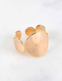 Fashion Gold Color Round Shape Decorated Opening Ring