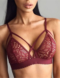 Sexy Red Corss Decorated Perspective Lingerie