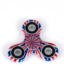 Fashion Red+royalblue Color-matching Decorated Spinner