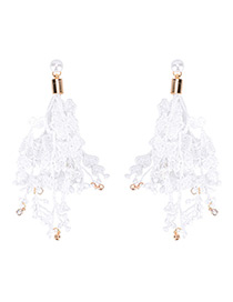Fashion White Diamond Decorated Pure Color Simple Earrings