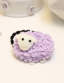 Lovely Purple Sheep Decorated Pure Color Hair Band