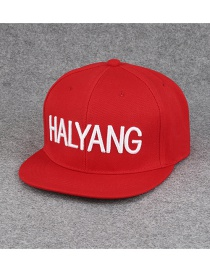 Fashion Red Letter Pattern Decorated Pure Color Hip-hop Cap