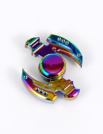Trendy Multi-color Sickle Ax Shape Decorated Simple Spinner
