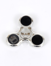 Trendy Silver Color Triangle Shape Decorated Flash Spinner