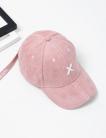 Fashion Pink Embroidery Letter Pattern Decorated Baseball Cap