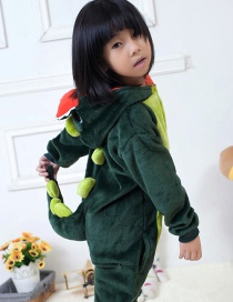 Fashion Green Dinosaur Shape Decorated Simple Chid Nightgown Reviews