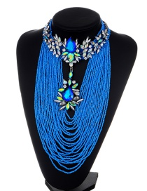 Fashion Multi-color Tassel Decorated Multi-layer Jewelry Sets