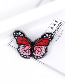 Fashion Multi-color Embroidery Butterfly Decorated Pure Color Brooch