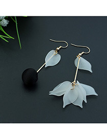 Fashion Black Leaf&ball Shape Decorated Color Matching Simple Design Earrings
