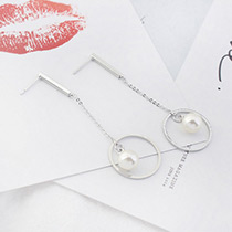 Fashion Silver Color Heart Shape&star Decorated Simple Hollow Out Earrings