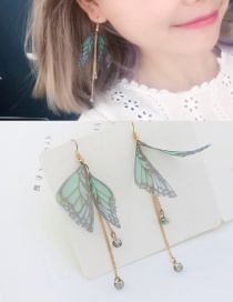 Elegant Light Purple+light Blue Tassel&butterfly Decorated Long Earrings Reviews